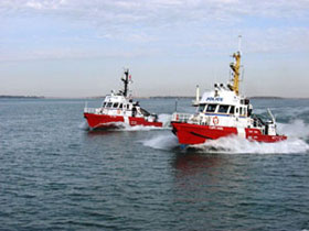 Two Marine Security Enforcement Teams patrol vessels at sea