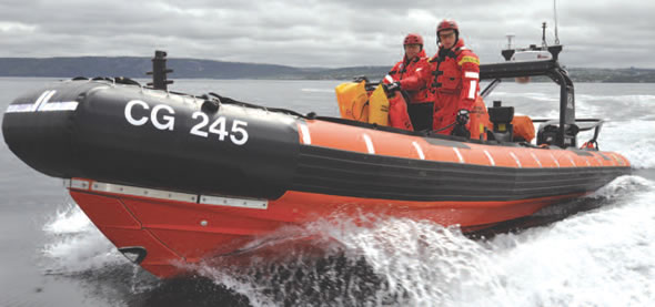 SAR officers on a Fast Rescue Craft