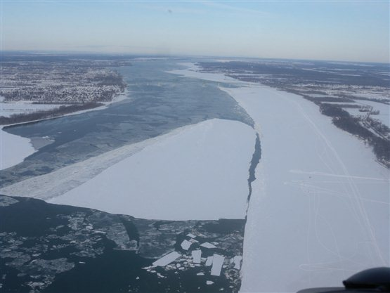The ship channel can be easily blocked if ice is dislodged from the banks