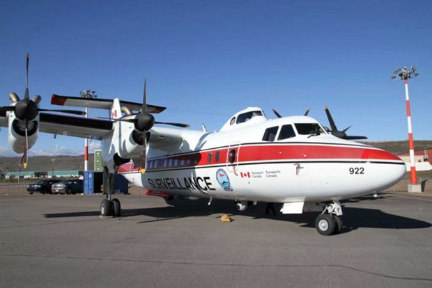 Dash-7 Ice Reconnaissance and Oil Pollution Surveillance Aircraft (Courtesy of CIS)