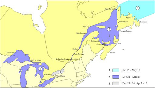 Map of Icebreaking Service Fee Zones