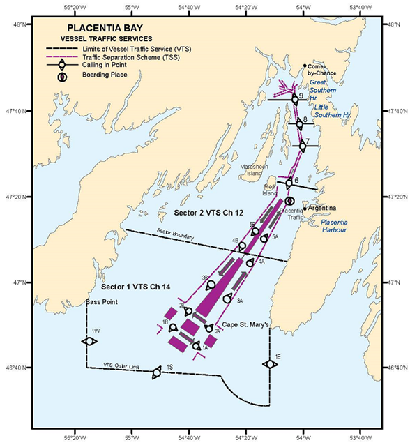 PLACENTIA BAY VTS ZONE