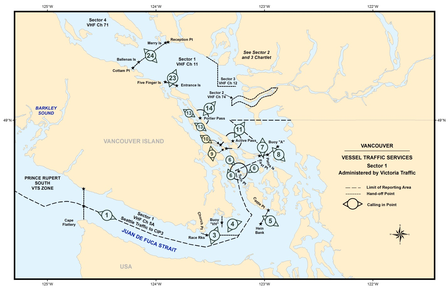 Vessel Traffic Services - Vancouver - Sector 1